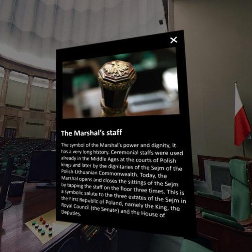 Sejm VR marshals staff 3R Studio